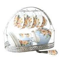 European Style Bone China Tea Sets Coffee Cup Tea Pot Set High Quality Tea Cup Set