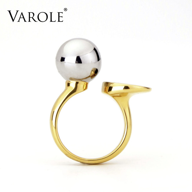 VAROLE Fashion Ball & Circle Ring Knunkle Midi Rings for Women Gold Color Ring J