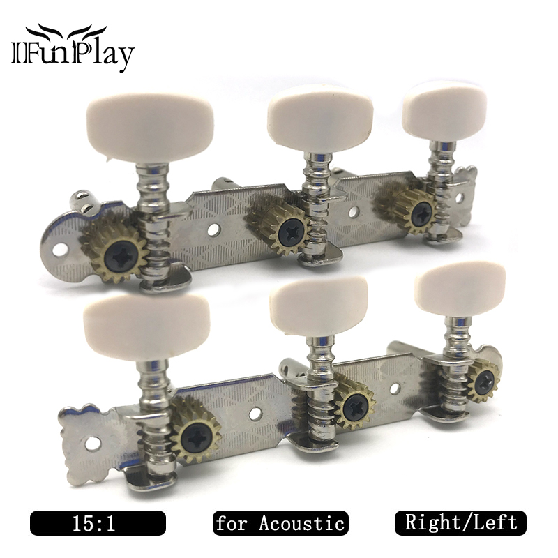 a set 3r3l locking string tuners tuning pegs keys machine heads for folk acoustic guitar chrome. Black Bedroom Furniture Sets. Home Design Ideas