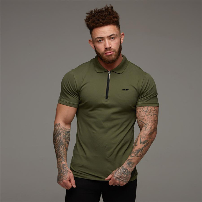 2019 Summer New Men Polo Shirt Men Fashion & Sports Solid Male Joggers Workout Shirts Short Sleeve Breathable Comfortable Clothi