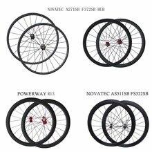 700C U с фокусным расстоянием 25 мм Powerway R13 углеродное волокно для велосипеда с дисковыми тормозами 38/50/60/88 мм глубина довод Трубчатые колеса novatec AS511SB FS522SB концентратор