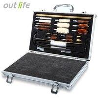 Universal Hunting Pistol Rifle Pistol Handgun Shotgun Cleaner Gun Cleaning Brush Tool Set Kit With Case