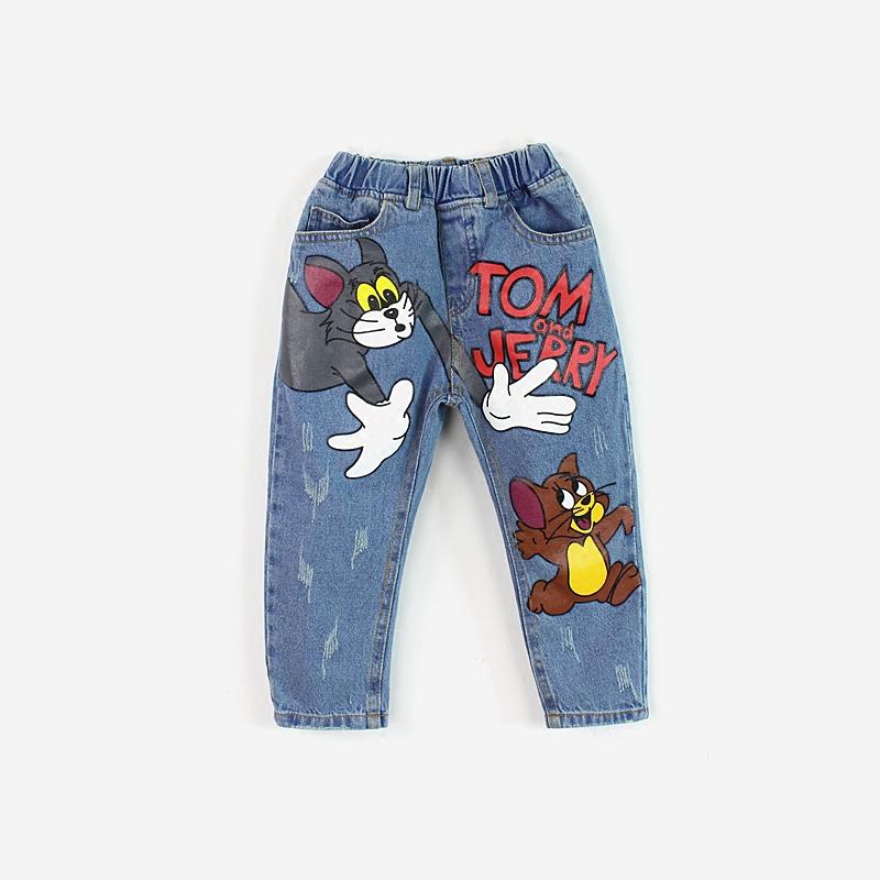 Fashion-Boys-Girls-Clothing-Tom-Jerry-Cute-Cartoon-Jeans-Pants-Girls-Casual-Denim-Trousers-Toddler-Boys