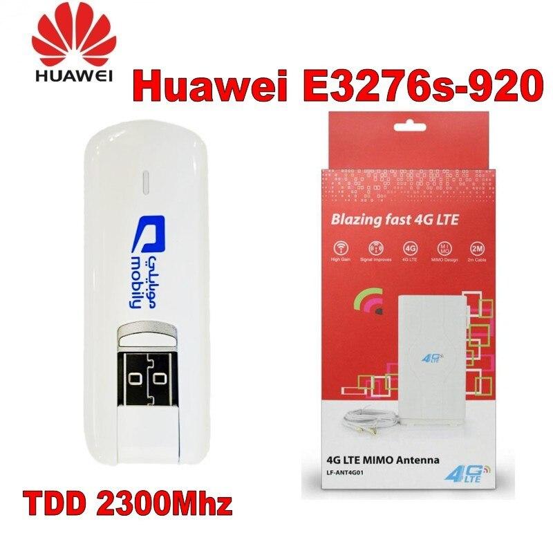 все цены на Unlocked Huawei E3276S-920 USB SIM Card Modem 3G 4G LTE 49dbi External omni Antenna онлайн