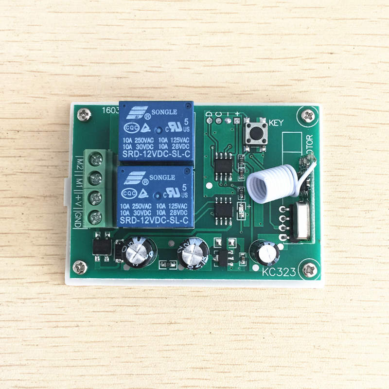 Image 5 - 433Mhz Wireless RF Switch DC12V Relay Receiver Module and 433 Mhz Remote Controls For DC Motor Forward and Reverse Controller-in Remote Controls from Consumer Electronics
