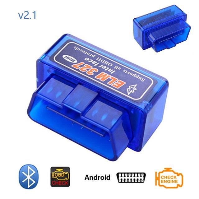 Dewtreetali Mini ELM327 Bluetooth 2.0 Interface V2.1 OBD2 outil de Diagnostic automatique ELM 327 pour Android couple/PC v2.1 BT adaptateur