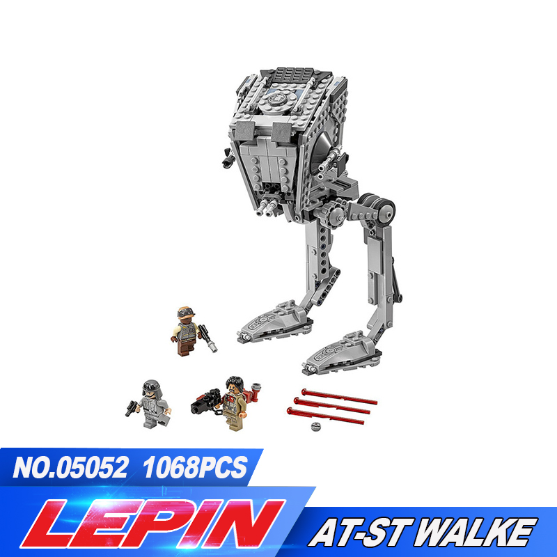 цены 2016 New Lepin 05052  Series 1068pcs Out of print empire AT ST Building Blocks Bricks Model Toys Boys Gifts 75153