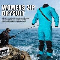 Женская водостойкая сухая одежда Wndproof дышащий гидрокостюм теплая холодная Защита Одежда Морской рыболовный костюм