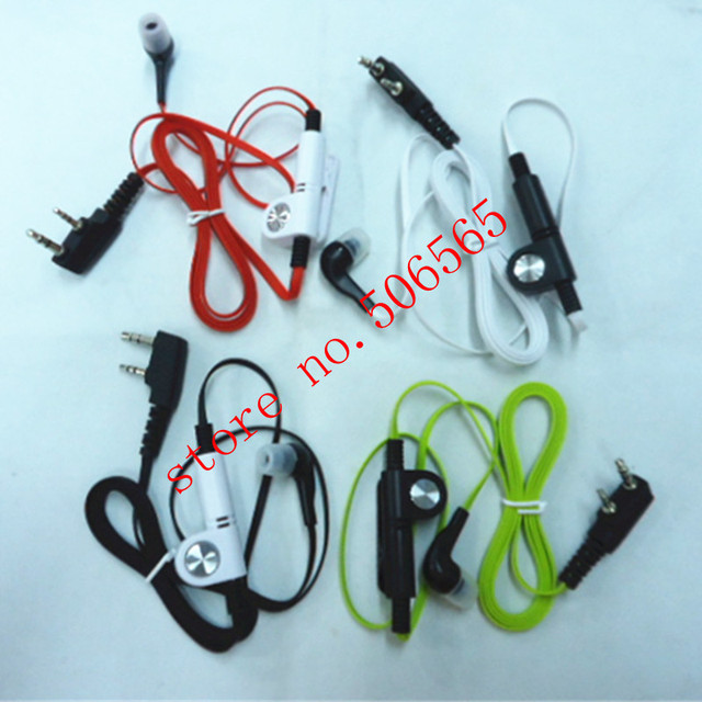colorful fashion comfortable in ear headphone K plug for baofeng puxing tonfa linton quansheng etc walkie talkie