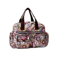Impresión de la manera ocasional de las mujeres bolso de nylon impermeable del hombro messenger bag bolsos de las mujeres del tamaño 31*22*11.5 cm
