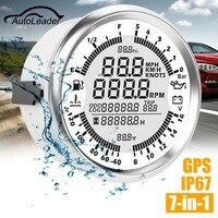 Autoleader 85 мм GPS Спидометр Датчик давления масла уровня топлива Тахометр скорость Лодка автомобилей DIY