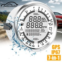 Autoleader 85mm GPS Speedometer Oil Pressure Gauge Fuel Gauge Tachometer Speed Boat Car DIY