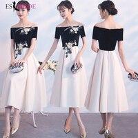 Fashion Evening Dresses For Women Elegant A Line Prom dresses Lace Appliques Wedding Guest Dress Party Gown Vestidos ES1277
