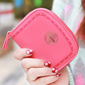 Hot New Korean Fashion Women Wallet Printing Pattern Fresh Candy Color Wallets Women Zipper Short Clutch Cion Pocket Card Holder