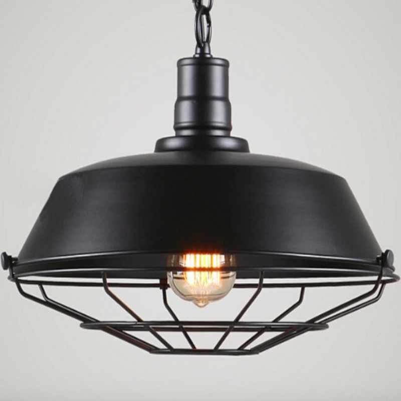 Vintage Industrial Black/Rust Iron Lid Design Led E27 Chain Pendant Light for Dining Room Restaurant Bar Dia 26/36/46cm 1654 convenient tpe pom lid for cola black