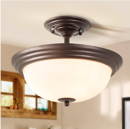 European exquisite white frosted glass ceiling lights E27 LED 3 lamps lights for bar&balcony&corridor&porch&stairs ZLXDD088 fumat stained glass ceiling lamp european church corridor magnolia etched glass indoor light fixtures for balcony front porch