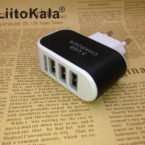 Image 2 - Сетевое зарядное устройство LiitoKala, с USB разъемом, 5 В, 3 А, 2 а, с вилкой Стандарта ЕС и Великобритании, для быстрой зарядки, для адаптера Lii100, Lii202