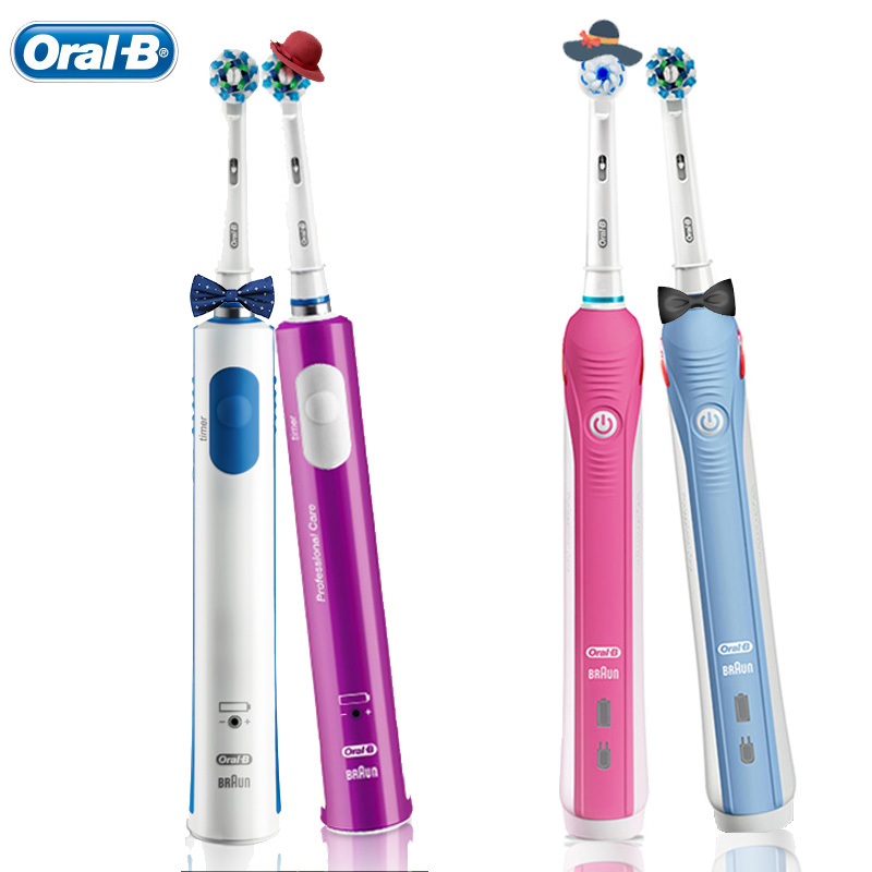 Oral B Toothbrush Electric For Lover Couple Daily Teeth Clean Remove Food Debris Tea Smoke Spot Sonic Toothbrush Teeth Whitening image