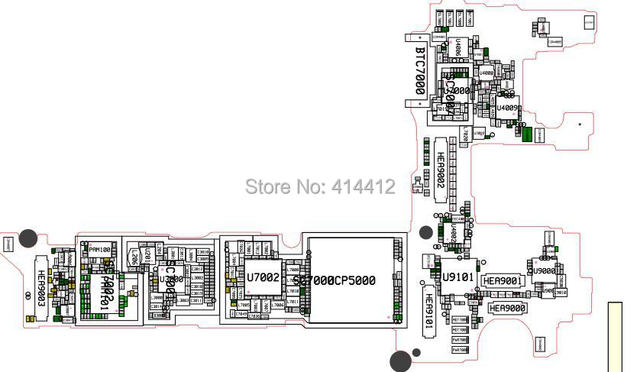 N8000 Galaxy Note 10 1 Smart Phone Repair Reference Schematic Pcb Board Diagram Maintenance