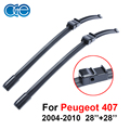 OGE wipers for car For Peugeot 407,28''+28'' rubber Bracketless windscreen blades, promotion, Car accessories, CPA118