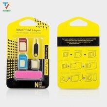 3000set/lot 5in1 Nano Sim Card Adapters + Regular & Micro