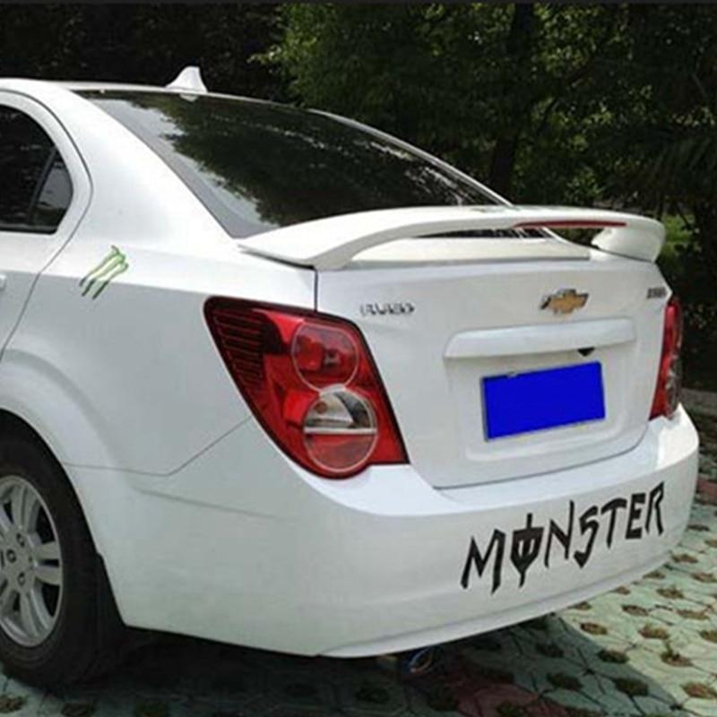 2010-2016 Aveo Sonic ABS Kunststoff Unlackierter Heckspoiler + Licht für Chevrolet Aveo Sonic