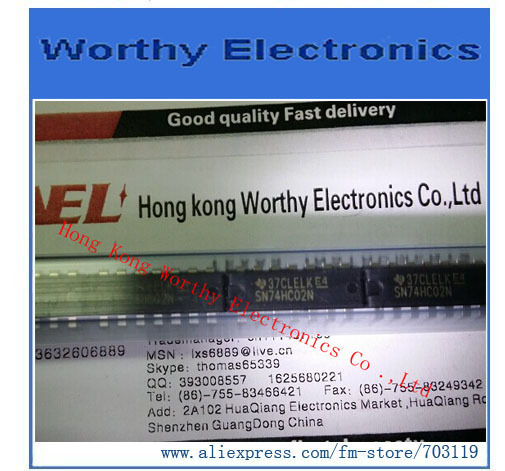 Бесплатная Доставка 10 шт./лот sn74hc02n 74hc02n 74HC02 IC ворот, ни 4ch 2-inp 14-DIP
