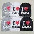 Я люблю мама и папа супер популярный детский Шляпу Ребенка Шляпу
