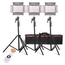 Travor TL-600A2.4Gkit BiColor LED Video Light with 2.4G remote control +6pcs NP-F750 battery+4pcs Charger for photography