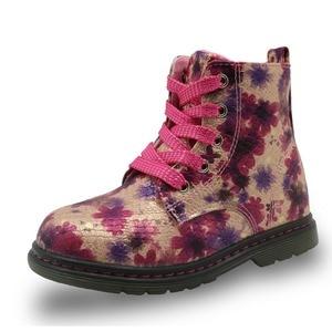 Image 4 - Apakowa floral outono inverno da criança botas da menina à prova dlittle água crianças martin boot borboleta crianças sapatos marca meninas sapatos