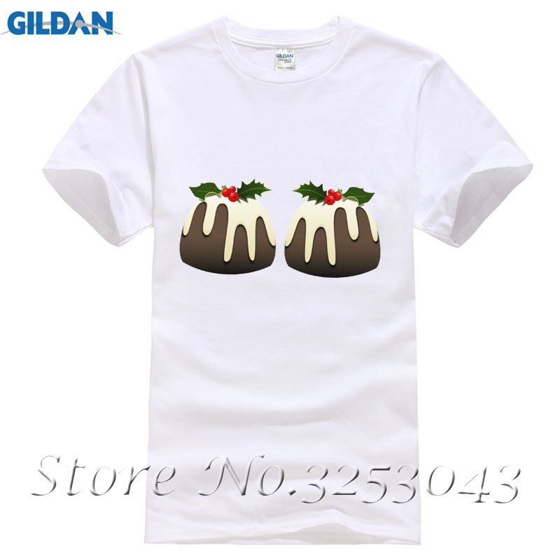 Christmas Pudding Boobs Ladies Fitted T-Shirt - Funny Xmas Secret Santa Gift Top