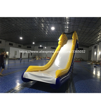 Inflatable floating water slide for boat , inflatable yacht slide , water slide boat