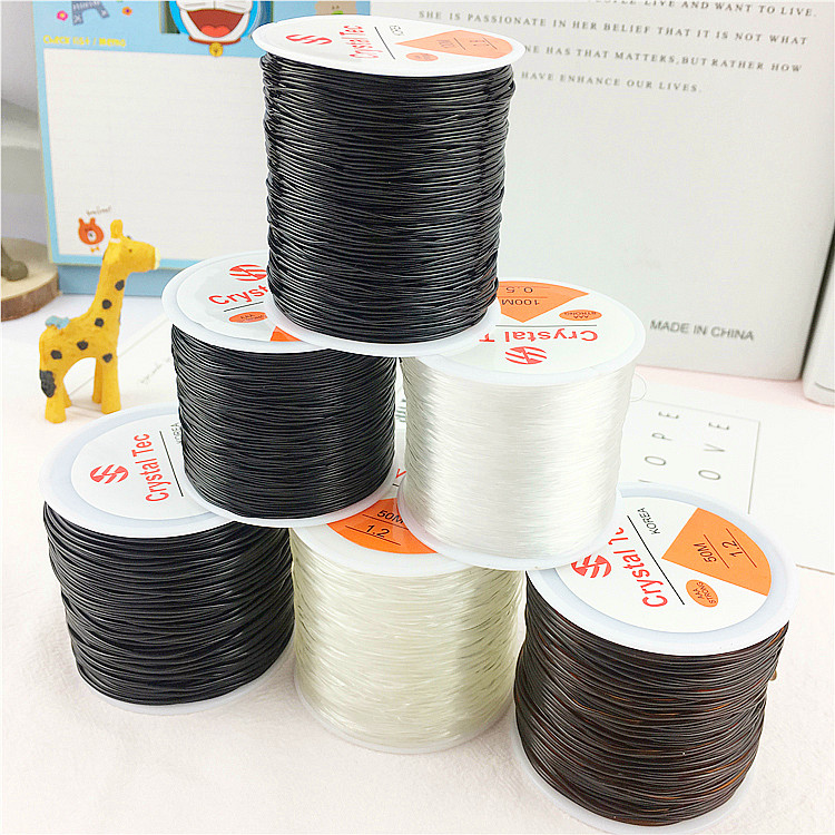 60m Stretchy Elastic Crystal String Cord Thread For Jewelry Making White R2V ZC