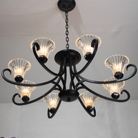 Suspension Luminaire Pendant Lights Black 8 Tieyi Living Room Fashion Brief Bedroom Lights American Style Crystal Pendant Light