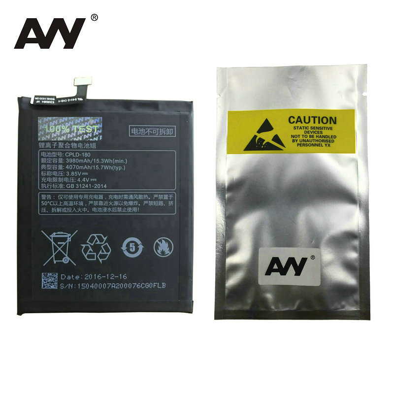 AVY CPLD-180 Battery For Coolpad LeEco Cool Changer S1 C105-8 Mobile phone Rechargeable Li-polymer Batteries 3980mAh In stock