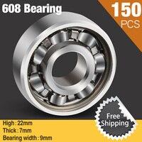 150pcs 608 Super Fast Skate 608Bearing 608 For Ceramic Led Light Aluminium Batman Hand Spinner Fidget