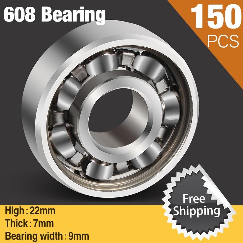 150pcs 608 Super Fast Skate 608Bearing 608 for Ceramic Led Light Aluminium Batman Hand Spinner Fidget Spinners Lot