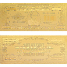 One Hundred Thousand Dollars Gold Banknote12k 99999 Gold Foil American Fake Money Home Decorative Worth Collection о генри one thousand dollars and other plays
