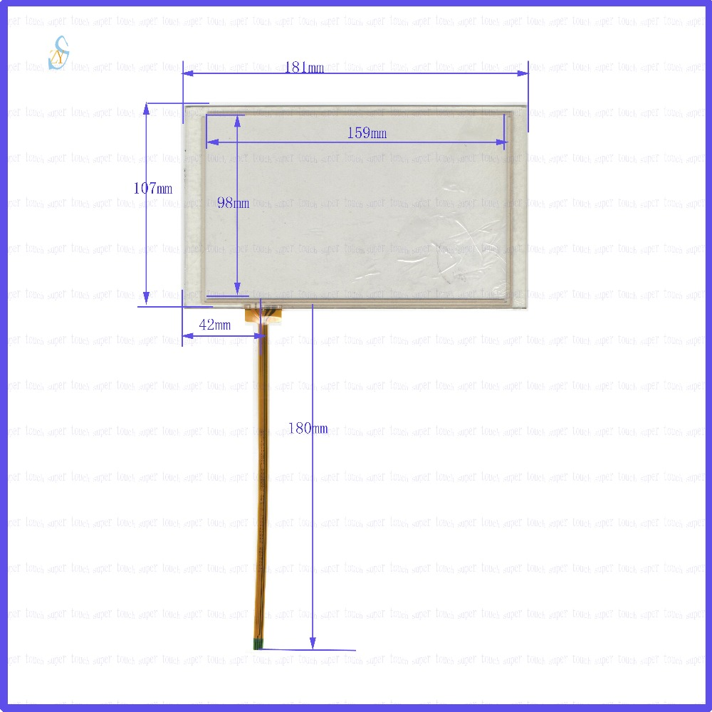 ZhiYuSun  8inch 4-wire Industrial control machine 181*107GPS Navigator screen  glass this is compatible  181mm*107mm 8 4inch 8 4 non touch industrial control lcd monitor vga interface white open frame metal shell tft type 4 3 800 600