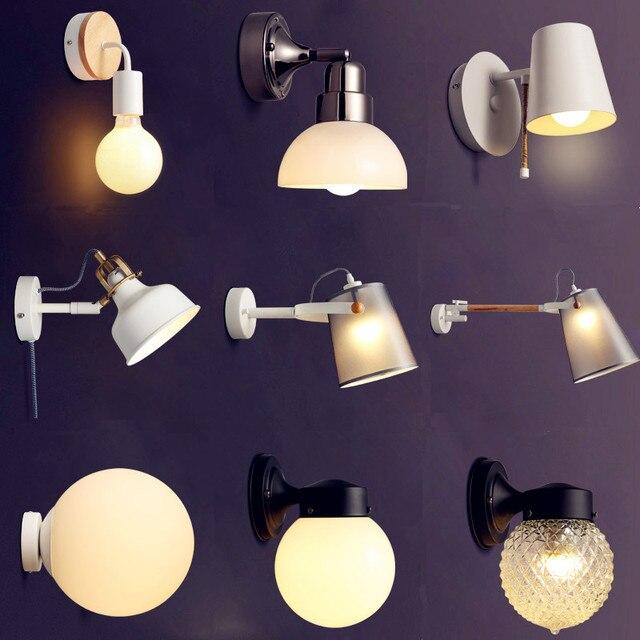 US $36.63 5% di SCONTO|Bianco Nero Moderno LED Applique da parete Per La  Casa Soggiorno Accanto Lampada Wandlamp Sconce Luce Della Parete del LED ...