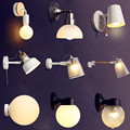 White Black Modern LED Wall Lights For Home Living Room Beside Lamp Wandlamp Sconce LED Wall Light Lampara Pared