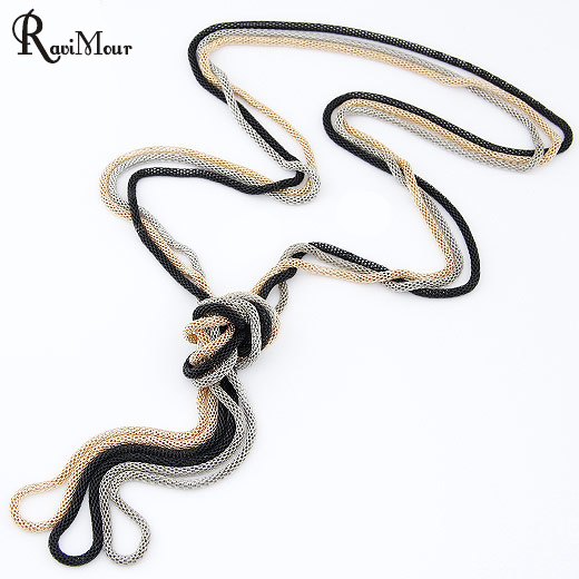 RAVIMOUR Colar Femme Black Choker Necklace Сән Punk Multilayer Long Chain Necklaces & Pendants for Women Collier Бижутерия