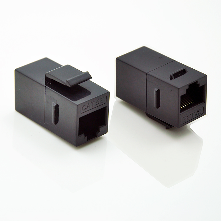 (12pcs/pack) RJ45 Cat.5e Inline Female Adapter Coupler - Unshielded Adapter For Blank Patch Panel