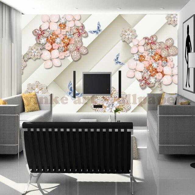 Benutzerdefinierte jeder größe Moderne 3D Wallpaper PVC Diamant Sofa ...
