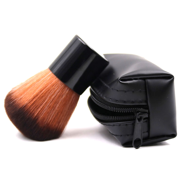 New professional 182 MC Makeup Kabuki Brushes Kit Make Up Powder Cosmtics Foundation Blush Brush beauty tools+leather bag.