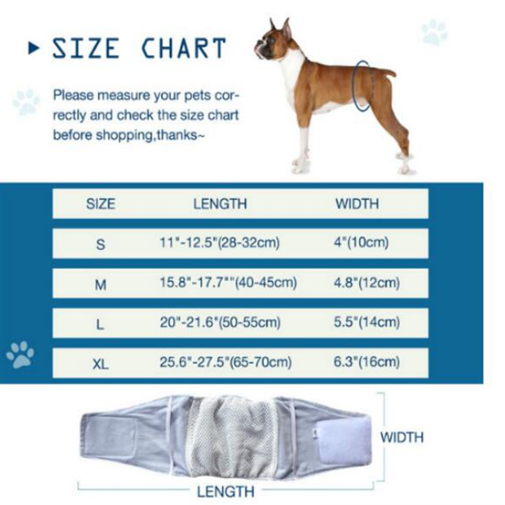 Male Pet Dog Belly Wrap Band Diaper Nappy Pants Puppy Sanitary Underwear S XL in Dog Shorts from Home Garden