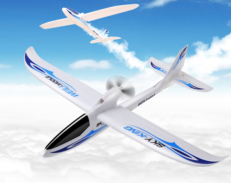 WLtoys F959 Sky King 2.4G 3CH RC Aircraft Wingspan Remote Control Airplane Push-speed Glider Fixed Wing Plane RTF VS F939 F949 x uav mini talon epo 1300mm wingspan v tail fpv rc model radio remote control airplane aircraft kit