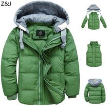 2016 зимние дети мальчики пуховик пальто мода капюшоном толстые твердые теплое пальто мальчик зимней одежды верхней одежды для 4-13 Т 6 цвета
