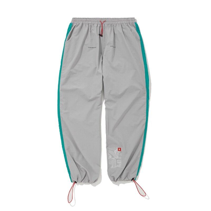VfiveNnfour 2019 Vintage Pantalon Lâche Rayé Patchwork Pantalon Cheville Cordon Élastique Taille Joggers pantalon Mens Pantalon