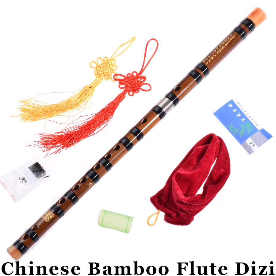 Chinese Bamboo Flute Dizi For Beginners Transverse Woodwind Musical Instrument Traditional Bambu Flauta C/D/E/F/G Key Gifts